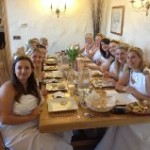 greek themed hen dinner party